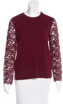 Tory Burch Lace Crew Neck Sweater