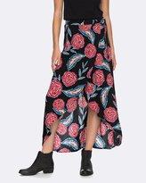Roxy Womens Missing You Wrap Maxi Skirt