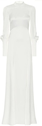 Temperley London Eleanor crApe-satin bridal gown