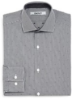 DKNY Boys' Gingham Dobby Woven Dress Shirt - Sizes 8-18