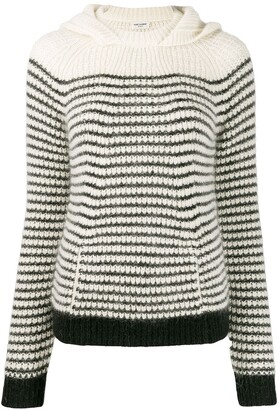 Saint Laurent Hooded Stripe Jumper