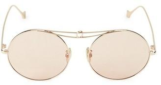 Loewe 56MM Round Browline Sunglasses