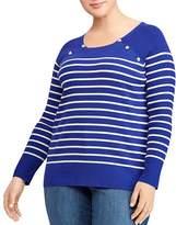 Lauren Ralph Lauren Plus Striped Nautical Sweater