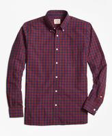 Brooks Brothers Buffalo Check Broadcloth Sport Shirt