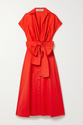 Silvia Tcherassi Sampuesana Tie-front Cotton-poplin Shirt Dress - Red