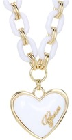 GUESS Plastic Link Puffy Heart Necklace Necklace