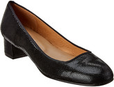 French Sole London Snake-Embossed Leather Pump