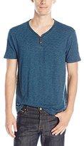 Lucky Brand Men's Salt Point Y-Neck Shirt in Indigo