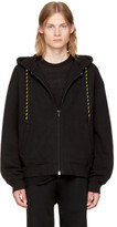 Alexander Wang Black Dense Fleece Zip-up Hoodie
