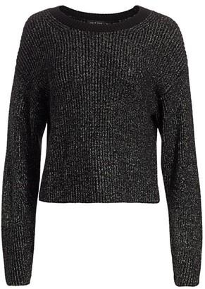 Rag & Bone Jubilee Metallic Merino Wool-Blend Sweater