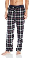 Nautica Men's Black Plaid Cozy Fleece Pant