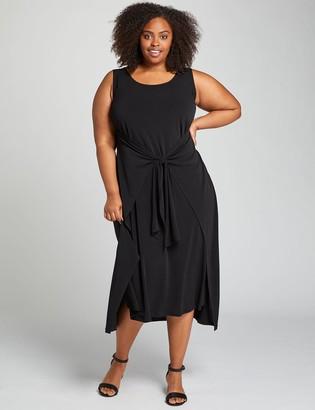 Lane Bryant Tie-Front Midi Dress