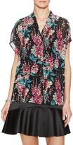 Tocca Silk Printed Floral Top