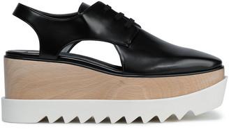 Stella McCartney Cutout Faux Glossed-leather Platform Brogues
