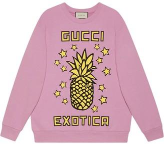 Gucci Exotica pineapple-print sweatshirt