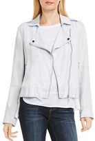 Two By Vince Camuto Drapey Linen Moto Jacket