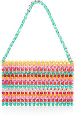 Susan Alexandra Sour Straw Beaded Shoulder Bag