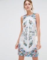 Oasis Patchwork Floral Shift Dress