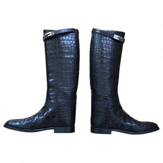 Hermã ̈S HermAs Jumping Black Alligator Boots