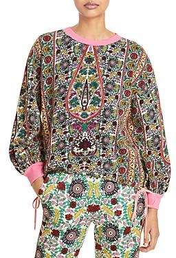 Alice + Olivia Amirah Printed Drawstring Sweatshirt
