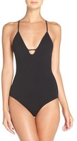 Free People Women's 'Move Along' Racerback Bodysuit