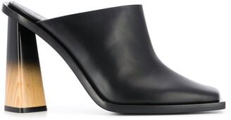 Givenchy spray-painted wooden heel mules