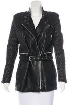 Barbara Bui Belted Leather Jacket