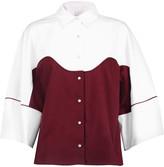Stella Jean Two-tone cotton-blend shirt