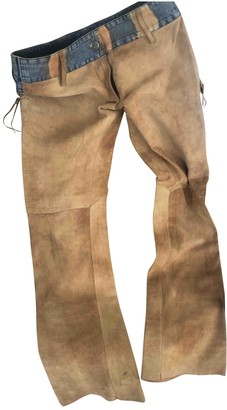 Oakwood Camel Leather Trousers