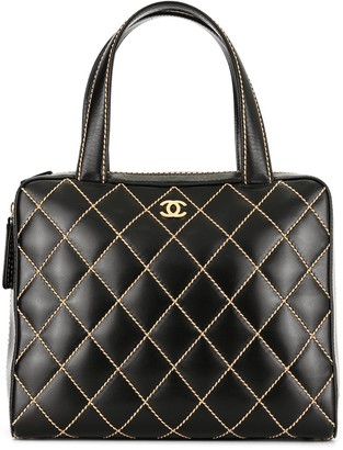 Chanel Pre-Owned Wild Stitch CC Logos Hand Bag