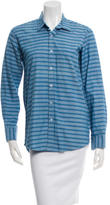 Steven Alan Striped Button-Up Top