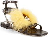 Fendi 'Bugs' Genuine Fox Fur Sandal (Women)