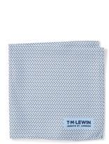 T.M.Lewin Silk Basket Weave Print Pocket Square