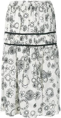Comme Des Garçons Pre-Owned Floral Gathered Skirt