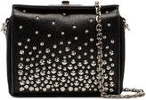 Alexander McQueen Black Studded Chain Mini Box Bag