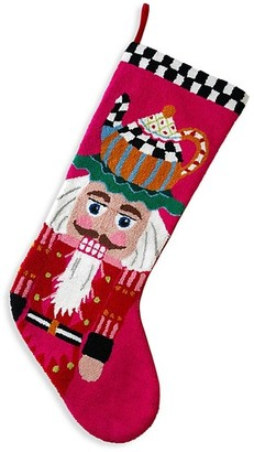 Mackenzie Childs Jumbo Teatime Nutcracker Stocking