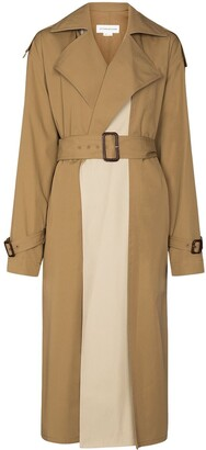 Victoria Beckham Panelled Trench Coat