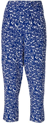 Marni floral cropped trousers