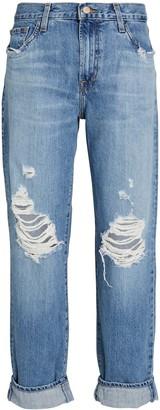 J Brand Tate Distressed Boyfriend Jeans