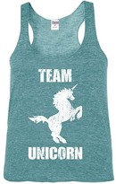 Urban Smalls Heather Aqua 'Team Unicorn' Racerback Tank - Toddler & Girls