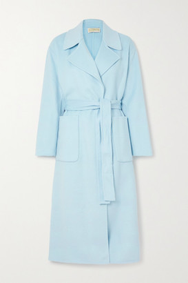 MICHAEL Michael Kors Belted Wool-blend Felt Coat - Sky blue