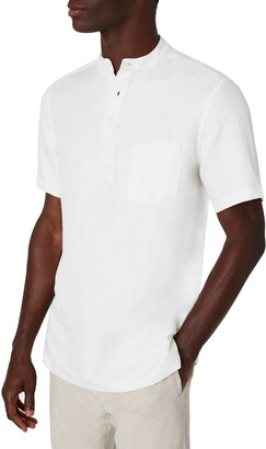 Onia Anthony Short Sleeve Pocket Linen Henley