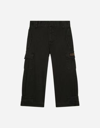 Dolce & Gabbana Stretch Gabardine Cargo Pants
