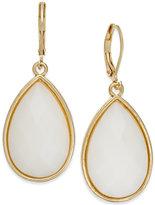 Charter Club Gold-Tone White Teardrop Earrings