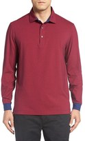 Bobby Jones 'Liquid Cotton Skyline' Stripe Long Sleeve Polo