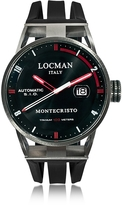 Locman Montecristo Stainless Steel & Titanium Automatic Men's Watch w/Silicone Strap