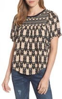 Velvet by Graham & Spencer Women's Art Deco Print Blouse