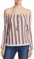 Vero Moda Amari Off-the-Shoulder Stripe Top