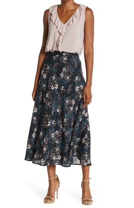 Velvet by Graham & Spencer Printed Challis Skirt