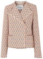 LK Bennett Heather Natural Cotton Mix Jacket